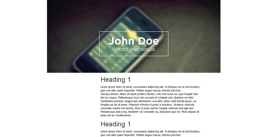 Bootstrap Design 3 - only bootstrap